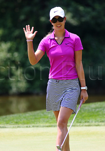 06 JULY 2012: Michelle Wie acknowledges the crowd after making a putt during the second round of the US Open at Blackwolf Run in Kohler, WI.............