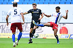 v.l. Kevin Behrens, Josha Vagnoman (HSV)<br />Hamburg, 28.06.2020, Fussball 2. Bundesliga, Hamburger SV - SV Sandhausen<br />Foto: Tim Groothuis/Witters/Pool//via nordphoto<br /> DFL REGULATIONS PROHIBIT ANY USE OF PHOTOGRAPHS AS IMAGE SEQUENCES AND OR QUASI VIDEO<br />EDITORIAL USE ONLY<br />NATIONAL AND INTERNATIONAL NEWS AGENCIES OUT