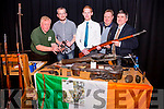 Pictured at a series of Talks, Presentations and Artifact Display on the 1916 Rising organised by Heritage Iveragh held in Tech Amergin Waterville on Saturday were l-r; Jim Halpin (Historian & weapons expert), Pádraig Óg Ó Ruairc(Author & Historian), Pól Ó Clubháin(Historian), Stephen Kelleghan(PRO Heritage Iveragh) & Tim Horgan(Author & Historian).