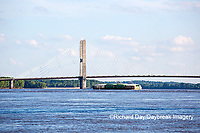 65095-02314 Barge on Mississippi River and Bill Emerson Memorial Bridge Cape Girardeau, MO