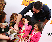 "LOS ANGELES, CA - JANUARY 11: Actress Katherine Heigl and daughter Nancy Leigh Kelley, husband Josh Kelley and daughter Adalaide Marie Hope Kelley arrive at the World Premiere Of Open Road Film's ""The Nut Job"" held at Regal Cinemas L.A. Live on January 11, 2014 in Los Angeles, California. (Photo by Xavier Collin/Celebrity Monitor)"
