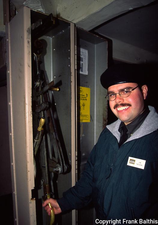 Guide using cell door mechanism on Alcatraz