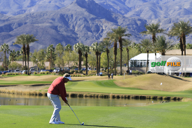 Carl Pettersson (SWE) plays his 2nd shot on the 9th hole during Saturday's Round 3 of the 2017 CareerBuilder Challenge held at PGA West, La Quinta, Palm Springs, California, USA.<br /> 21st January 2017.<br /> Picture: Eoin Clarke | Golffile<br /> <br /> <br /> All photos usage must carry mandatory copyright credit (&copy; Golffile | Eoin Clarke)