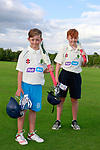 Zach and Ged Sweetman at the presentation of new kit to Ringcommon cricket club by Flogas.<br /> Picture Fran Caffrey | Newsfile