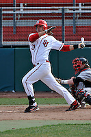 St.John's Red Storm firstbaseman Paul Karmas (31)  during a game vs. the Cincinnati Bearcats at Jack Kaiser Stadium in Queens, NY;  March 25, 2011.  St. John's defeated Cincinnati 3-2.  Photo By Tomasso DeRosa/Four Seam Images