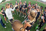 Torrance, CA 05/09/13 - Coach Courtney Schneck addresses her Oak Park girls before the start of the game. in action during the 2013 Los Angeles area Girls Varsity Lacrosse Championship.  Agoura defeated Oak Park 13-7.