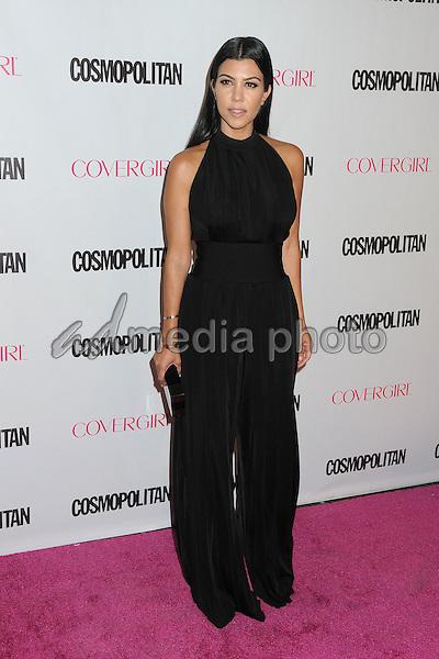 12 October 2015 - Hollywood, California - Kourtney Kardashian. Cosmopolitan 50th Birthday Celebration held at Ysabel. Photo Credit: Byron Purvis/AdMedia