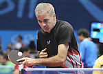 November 18 2011 - Guadalajara, Mexico:  Masoud Mojtahed of Canada taking on Paulo Salmin of Brazil in Men's Team C6-8 in the CODE II Sports Complex at the 2011 Parapan American Games in Guadalajara, Mexico.  Photos: Matthew Murnaghan/Canadian Paralympic Committee