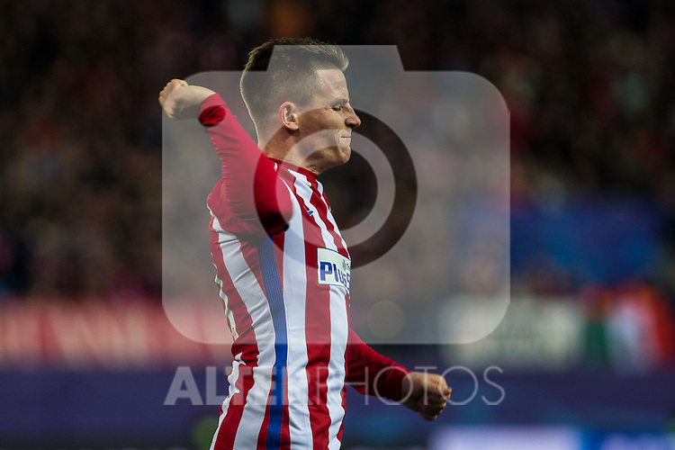 Atletico de Madrid's Kevin Gameiro during the Champions League match between Atletico de Madrid and PSV Eindhoven at Vicente Calderon Stadium in Madrid , Spain. November 23, 2016. (ALTERPHOTOS/Rodrigo Jimenez)