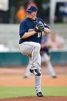 Starting pitcher Steve Hammond (18) of the Huntsville Stars in action at the Baseball Grounds in Jacksonville, FL, Wednesday June 11, 2008.