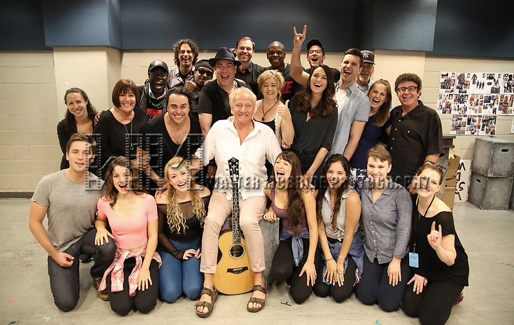 Air Supply band member Graham Russell center with the cast and creative team for the World Premiere musical presention of his show 'A World Apart' presented by the New York Musical Festival & New YorkRep on July 24, 2017 at the Acorn Theatre Studios at Theatre Row in New York City.