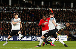 Odion Ighalo of Manchester United scores the second goal during the FA Cup match at the Pride Park Stadium, Derby. Picture date: 5th March 2020. Picture credit should read: Darren Staples/Sportimage