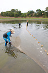 Kitty, Jessica & Stephanie Setting Net