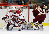 Daniel Moriarty (Harvard - 11), Barry Almeida (BC - 9) - The Boston College Eagles defeated the Harvard University Crimson 3-2 on Wednesday, December 9, 2009, at Bright Hockey Center in Cambridge, Massachusetts.