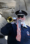 Ray Ahrenholz, with Buglers Across America, plays taps during the Pearl Harbor 75th Commemoration at the U.S.S. Nevada memorial at the Capitol in Carson City, Nev. on Wednesday, Dec. 7, 2016. <br /> Photo by Cathleen Allison/Nevada Photo Source