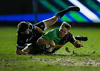 Harlequins' Alex Dombrandt scores his sides second try<br /> <br /> Photographer Bob Bradford/CameraSport<br /> <br /> European Rugby Heineken Champions Cup Group C - Bath Rugby v Harlequins - Friday 10th January 2020 - The Recreation Ground - Bath<br /> <br /> World Copyright © 2019 CameraSport. All rights reserved. 43 Linden Ave. Countesthorpe. Leicester. England. LE8 5PG - Tel: +44 (0) 116 277 4147 - admin@camerasport.com - www.camerasport.com