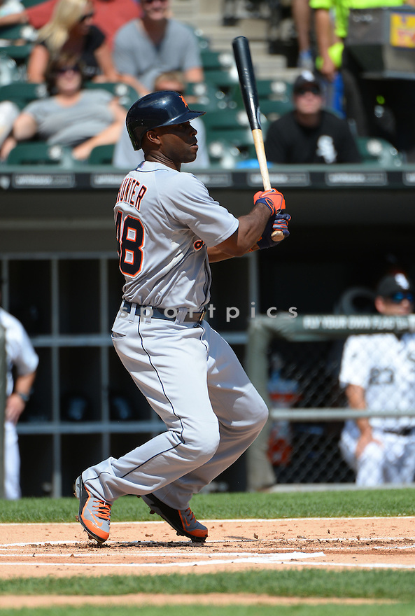 Detroit Tigers Torii Hunter (48) during a game against the Chicago White Sox on August 31, 2014 at US Cellular Field in Chicago, IL. The Tigers beat the White Sox 8-4.