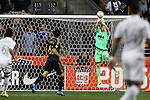 30 September 2015: Kansas City's Tim Melia punches the ball clear of the goal. The Philadelphia Union hosted Sporting Kansas City at PPL Park in Chester, Pennsylvania in the 2015 Lamar Hunt United States Open Cup Final. The game ended in a 1-1 tie after extra time. Sporting Kansas City won the Championship by winning the penalty kick shootout 7-6.