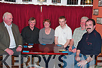 POKER: Taking part in the poker classic in Herbert's Bar, Kilflynn on Friday night were l-r: John Foley (Spa), Josephine Denihan (Tralee), Philip Twomey (Kilflynn), Pat Buckley and Richard Barrett (Tralee)..   Copyright Kerry's Eye 2008