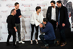 "Javier Gutierrez, german actor Michael Fassbender, french actress Marion Cotillard, Carlos Barden, the director of the film Justin Kurze and Hovik Keuchkerianl during the presentation of the film ""Assassin's Creed"" in Madrid, Spain. December 07, 2016. (ALTERPHOTOS/BorjaB.Hojas)"