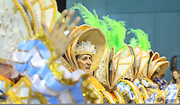 RIO DE JANEIRO, RJ, 11 FEVEREIRO 2013 - CARNAVAL RJ - PORTELA - Integrantes da escola de samba Portela durante desfile no primeiro dia do Grupo Especial no Sambódromo Sapucai na capital fluminense, na madrugada desta segunda 11. (FOTO: VANESSA CARVALHO - BRAZIL PHOTO PRESS).