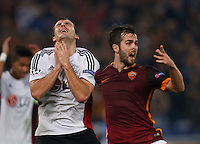 AS Roma's Miralem Pjanic  during the Champions League Group E soccer match between As Roma and  Bayer Leverkusen at the Olympic Stadium in Rome, November 04 2015