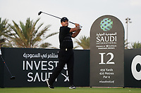 Patrick Reed (USA) on the 12th during Round 2 of the Saudi International at the Royal Greens Golf and Country Club, King Abdullah Economic City, Saudi Arabia. 31/01/2020<br /> Picture: Golffile | Thos Caffrey<br /> <br /> <br /> All photo usage must carry mandatory copyright credit (© Golffile | Thos Caffrey)
