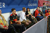 20190903 - LEUVEN , BELGIUM : fans and supporters with disabilities  pictured during the female soccer game between the Belgian Red Flames and Croatia , the first womensoccer game for Belgium in the qualification for the European Championship round in group H for England 2021, Tuesday 3 th September 2019 at the King Power Stadion Den Dreef in Leuven , Belgium. PHOTO SPORTPIX.BE | DAVID CATRY