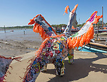 Scruff the Plastic Dragon, Sprit of Beowulf event, Woodbridge, Suffolk, England, UK - 5th May 2018