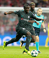 Chelsea FC's N'Golo Kante (l) and Tiemoue Bakayoko during Champions League 2017/2018, Group C, match 2. September 27,2017. (ALTERPHOTOS/Acero)<br /> Champions League 2017/2018 <br /> Atletico Madrid - Chelsea <br /> Foto Alterphotos / Insidefoto