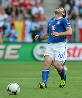 FUSSBALL  EUROPAMEISTERSCHAFT 2012   VORRUNDE Spanien - Italien            10.06.2012 Antonio Cassano (Italien)