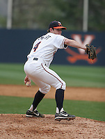 Casey Lambert of the Virginia Cavaliers vs. the Miami Hurricanes:  March 24th, 2007 at Davenport Field in Charlottesville, VA.  Photo By Mike Janes/Four Seam Images