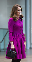 The Duchess of Cambridge visits the Costume Department at The Royal Opera House to learn more about their use of textiles, commissioning of fabrics and supply chain, Covent Garden, London, UK.<br />
