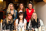 Enjoying a girls night out at Bella Bia restaurant, Tralee on Saturday night last were front l-r Ciara O'Sullivan, Tracey Corridan and Helena O'Sullivan. Back l-r: Shauna O'Sullivan, Eileen Whelan and Kerrie McCord.