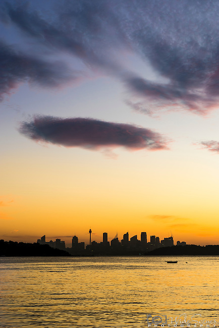 Sunset over Watsons Bay, Sydney, NSW, Australia