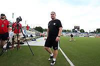 Cary, North Carolina  - Saturday June 17, 2017: Matt Beard prior to a regular season National Women's Soccer League (NWSL) match between the North Carolina Courage and the Boston Breakers at Sahlen's Stadium at WakeMed Soccer Park. The Courage won the game 3-1.