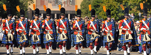 Oct. 3, 2009; South Bend, IN, USA; The Irish Guard enters Notre Dame Stadium