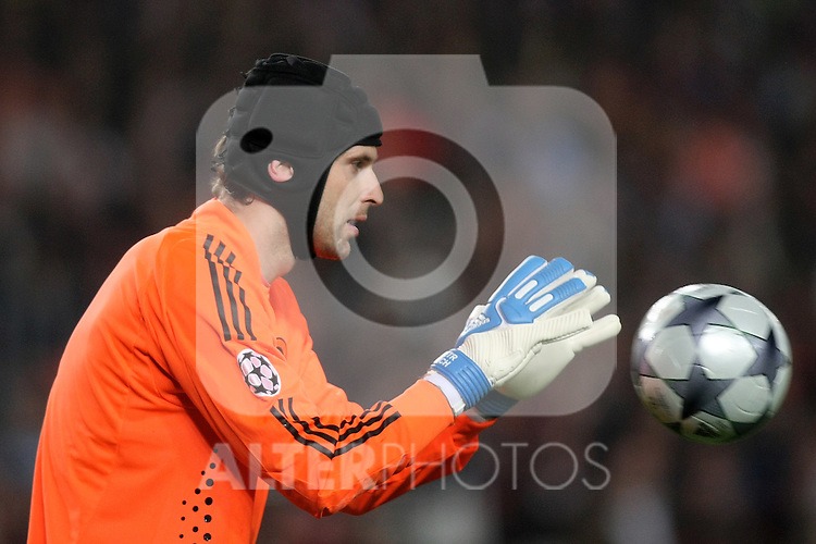Chelsea's Petr Cech during the UEFA Champions League match.April 28 2009. (ALTERPHOTOS/Acero).