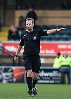Referee Christopher Sarginson during the Sky Bet League 2 match between Wycombe Wanderers and Bristol Rovers at Adams Park, High Wycombe, England on 27 February 2016. Photo by Andrew Rowland.