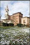 Il Castello Cavour di Santena, residenza del Conte Camillo di Cavour. La vista dal parco.