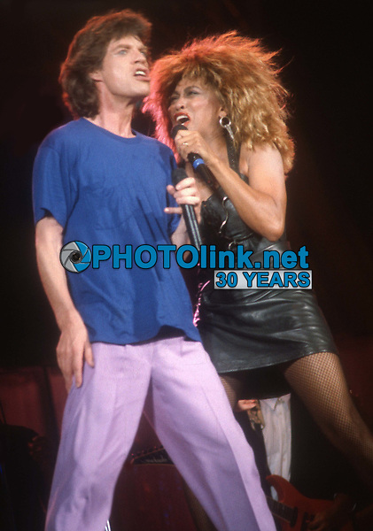 #MickJagger #TinaTurner 1986<br /> Photo By John Barrett/PHOTOlink.net