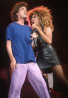 #MickJagger #TinaTurner 1986<br /> Photo By John Barrett/PHOTOlink.net