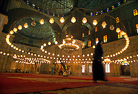 Interior of the Muhamed Ali Mosque, part of the Citadel of Cairo, Egypt