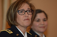 Washington, DC - January 22, 2014: Lt. General Patricia D. Horoho, U.S. Army Surgeon General and Commanding General, U.S. Army Medical Command, speaks at the 82nd Winter Meeting of the U.S. Conference of Mayors held in the District of Columbia January 22, 2014. (Photo by Don Baxter/Media Images International)