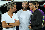 Real Madrid's Cristiano Ronaldo, Fabio Coentrao and Pepe during the XXXVII Bernabeu trophy between Real Madrid and Stade de Reims at the Santiago Bernabeu Stadium. August 15, 2016. (ALTERPHOTOS/Rodrigo Jimenez)
