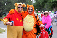 September 12, 2009:  Bikers and cyclists in costume at the Tour de Fat cycling culture event in City Park in Denver, CO. *****For editorial use only*****