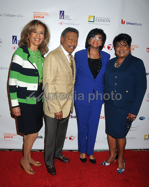 13 May 2015 - Los Angeles, California - Marilyn McCoo, Billy Davis Jr., Cheryl Boone Isaacs, Faye Washington. YWCA Phenomenal Woman of The Year Award Ceremony held at The Omni Hotel. Photo Credit: Byron Purvis/AdMedia