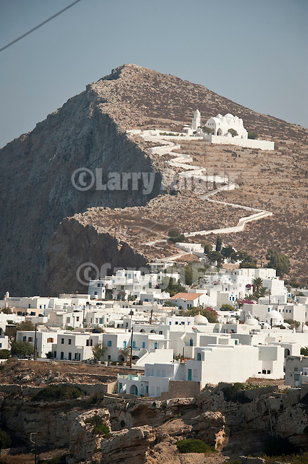 Assumption of the Virgin Mary church above Chora, Folegandros, Cyclades, Greece