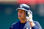 17 June 2006: Alex Rodriguez, third baseman for the New York Yankees, awaits his turn in the batting cage prior to a game against the Washington Nationals at RFK Stadium, in Washington, DC. The Nationals overcame a seven run deficit to win 11-9 in the second game of the interleague series...Mandatory Photo Credit: Ed Wolfstein Photo...