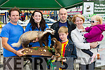 Dave Norris and Tara Buckley from the Killarney National Park shows the wild animals to l-r: Vincent, Sean, Martin and Laoise O'Brien  enjoying the Flavour of Killorglin festival on Saturday